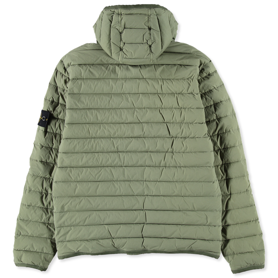 701543125 V0055 Loom Woven Stretch Down Hooded Jacket