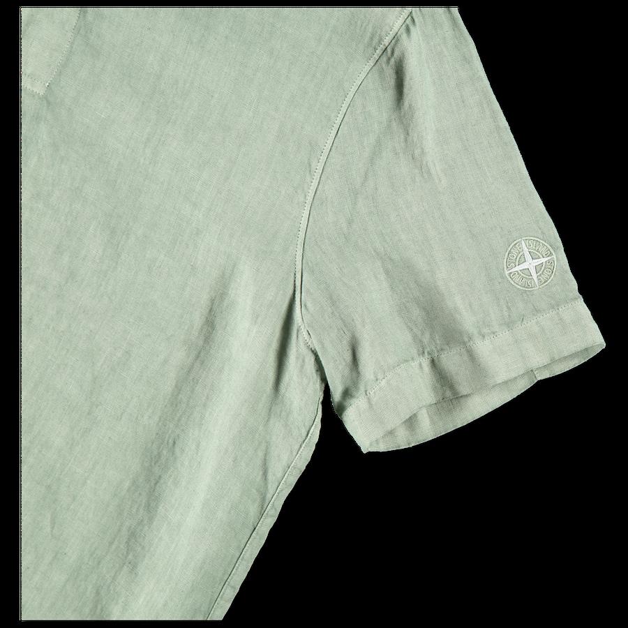 701511401 V0055 S/S Linen Popover Shirt