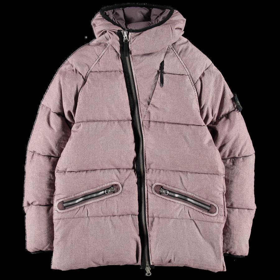 691542233 V0086 GD Linen Asym Zip Down Jacket