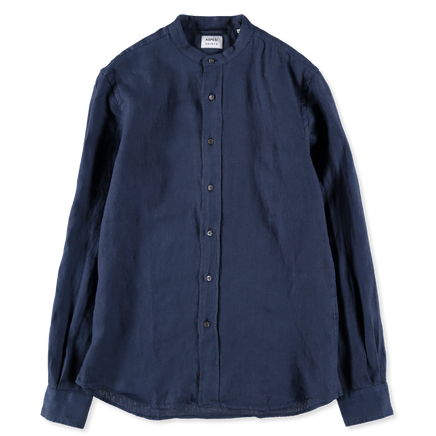 Bruce Linen Collarless Shirt