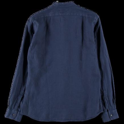 Bruce Linen Collarless Shirt