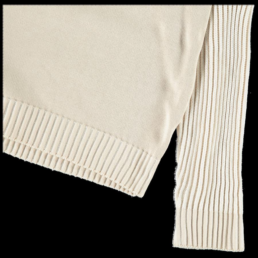 7015508D1 V0097 Mixed Stitches Bi-Colour Knit