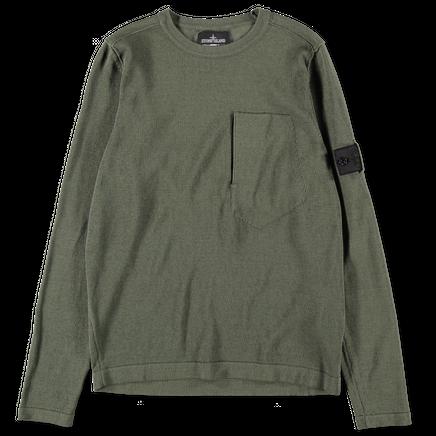 7019503A2 V0054 Cotton Knit Pocket Sweater