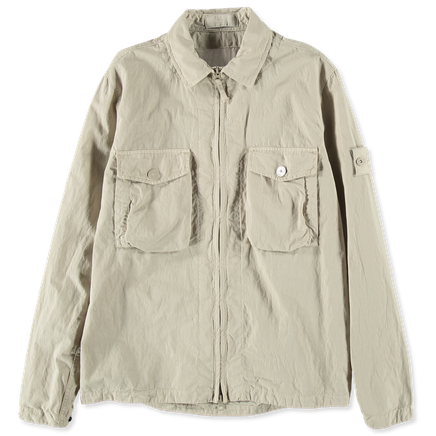 7015103F2 V0090 Ghost Cotton Nylon Tela Overshirt