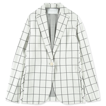 Windowpane Oversized Blazer