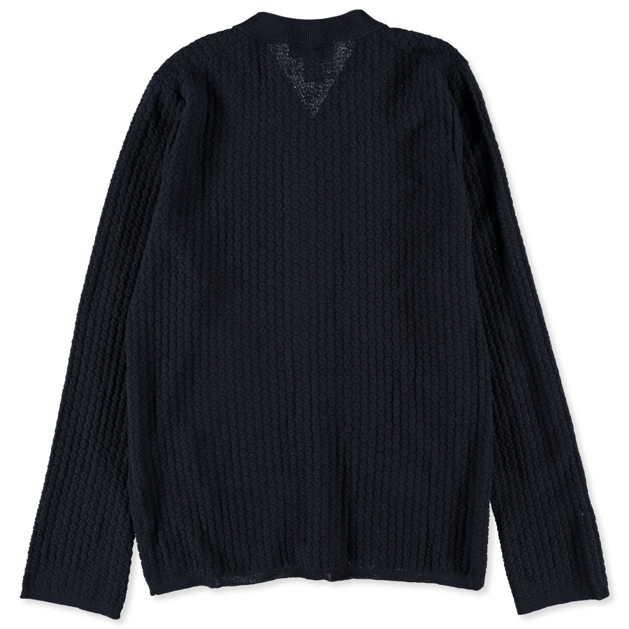 Structure Knit Wool Cardigan