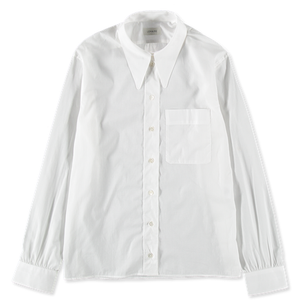 Straight Collar Sheer Shirt