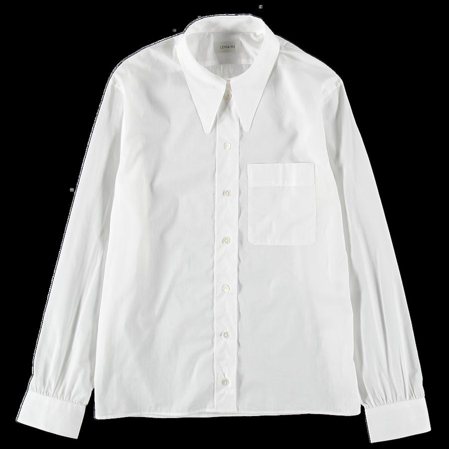 Straight Collar Sheer Shirt