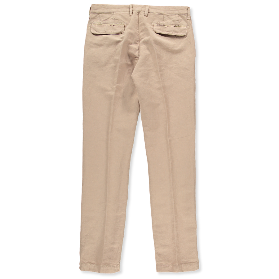 Washed Pleat Co/Li Trousers