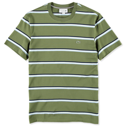 Stripe Cotton Linen T-Shirt