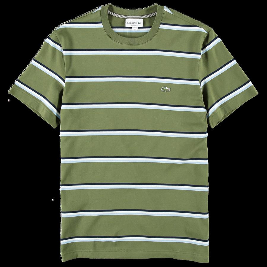 Stripe Cotton Linen T-Shirt