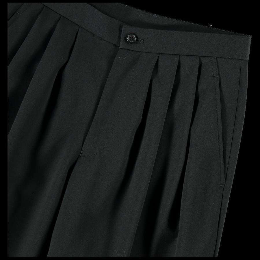 Pleated Wool Trouser