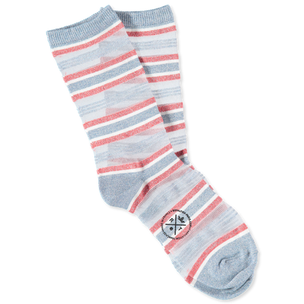Ruban Net Stripe Socks Azur