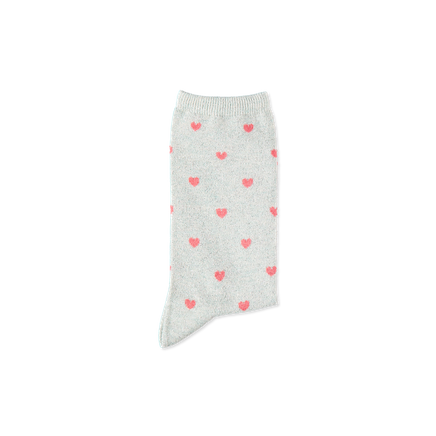 Betty Heart Socks Sparkling