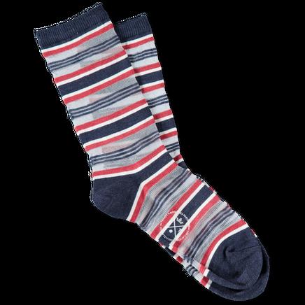 Ruban Net Stripe Socks Indigo