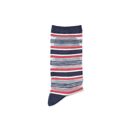 Ruban Net Stripe Socks Indigo