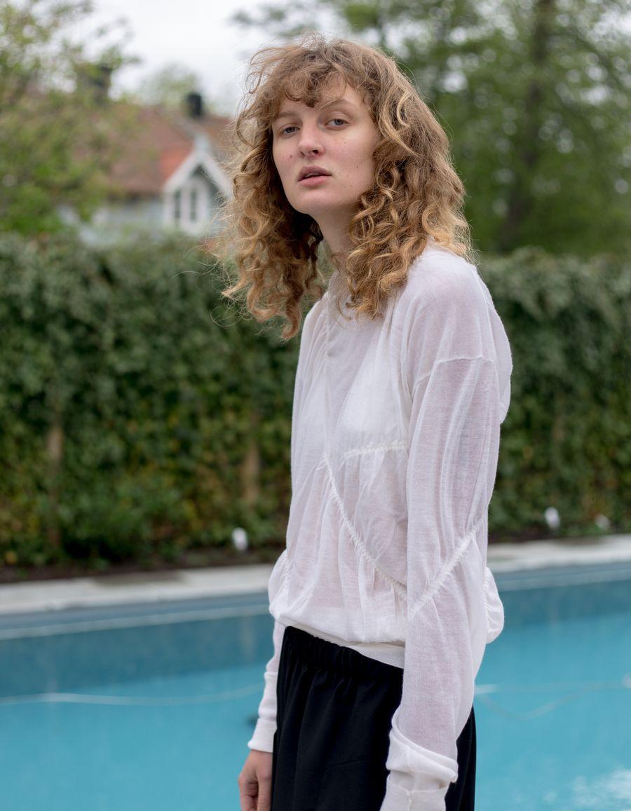 Elasticated Cashmere Pullover