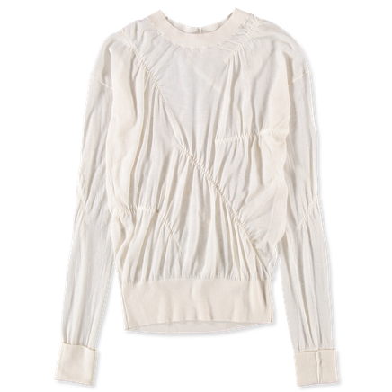 Elasticated Cashmere Pullover