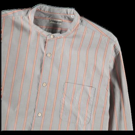Band Collar Stripe Shirt