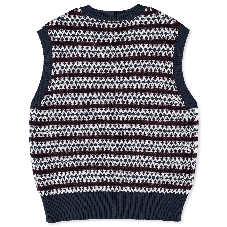 Pattern Knit Terry CN Vest