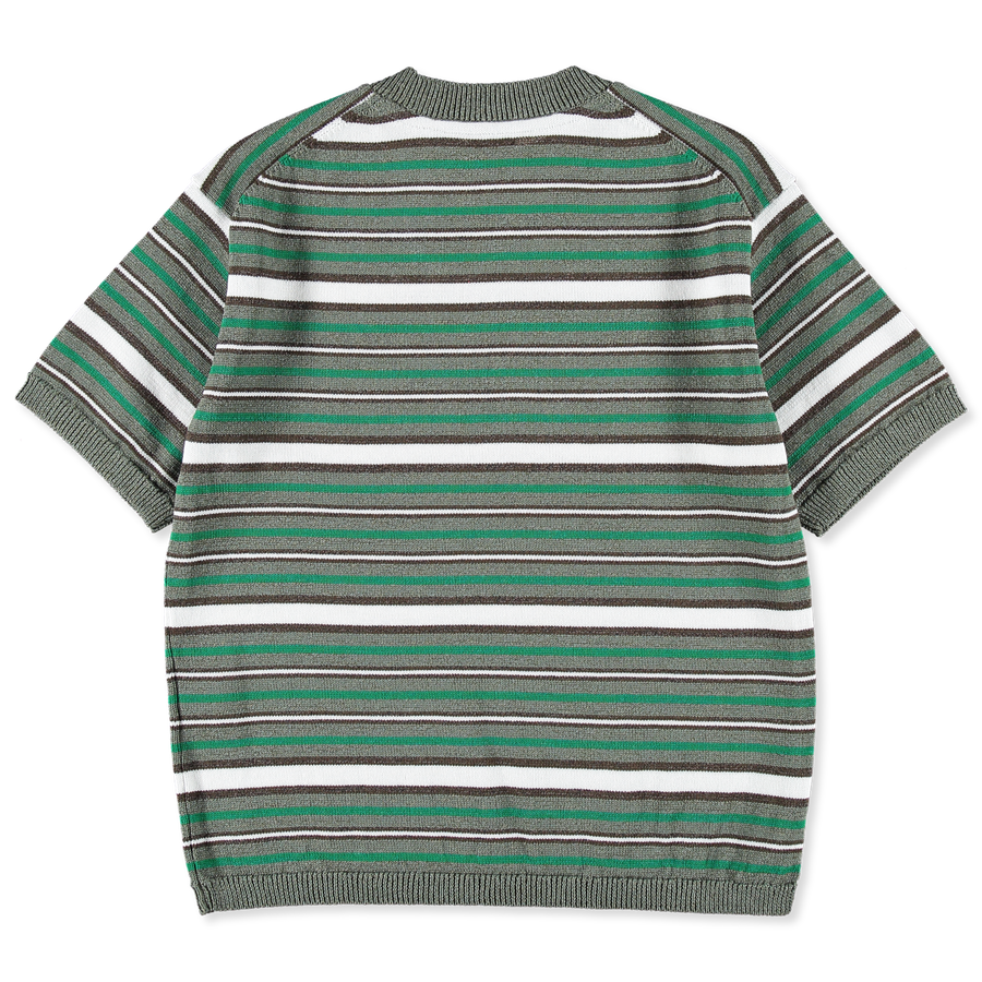 Knitted S/S Stripe Top