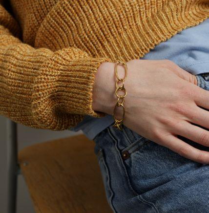Distorted Bracelet Goldplated