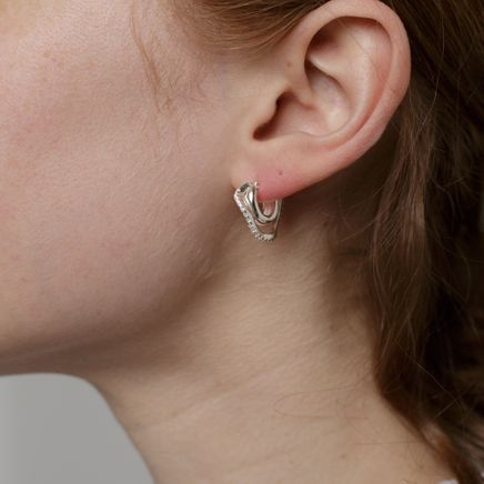 Distorted Hoops S White Topaz