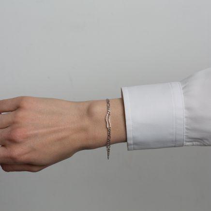 Distorted Bracelet White Topaz