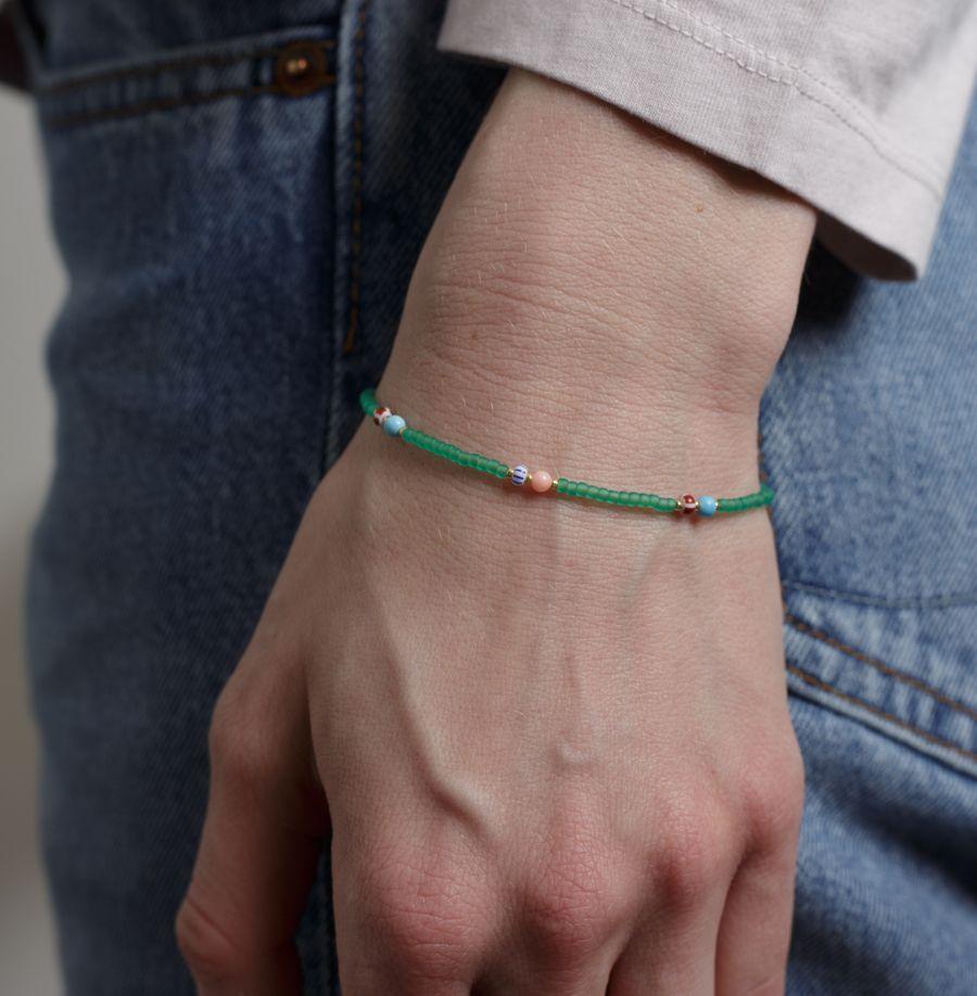Soho Bracelet Green Frost