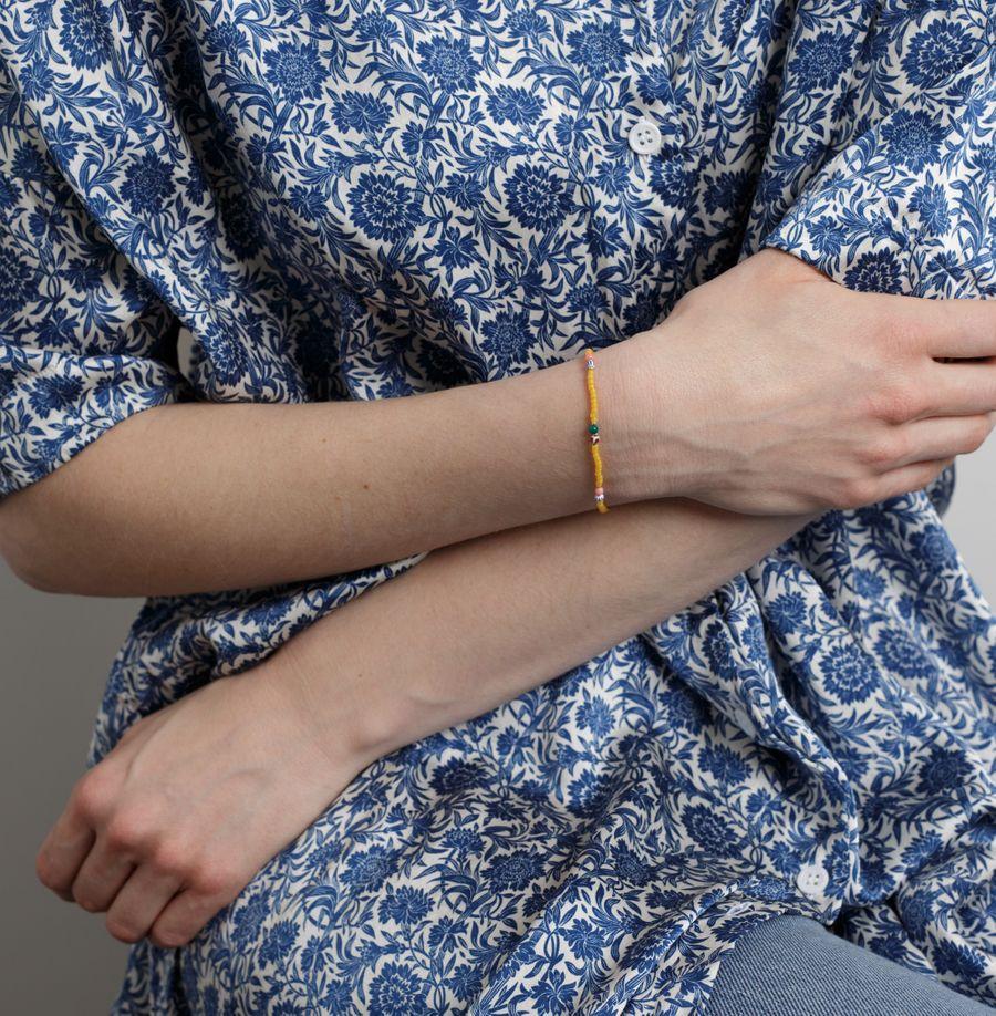 Soho Bracelet Yellow Frost