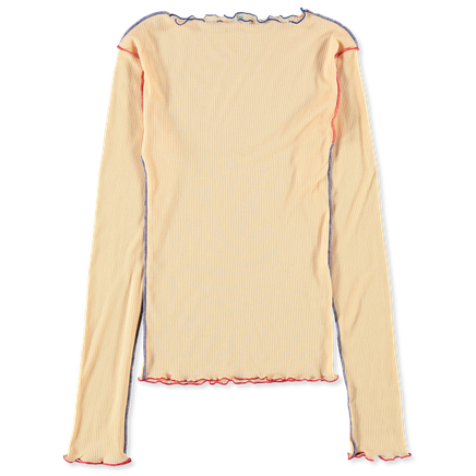 Vein Long Sleeve Rib Top