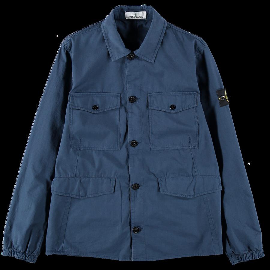 701512707 V0028 Button Cotton Ripstop Overshirt