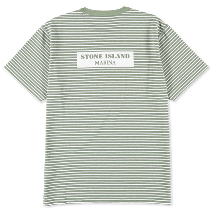 7015233X3 V0055 Marina Stripe Back S/S T-Shirt