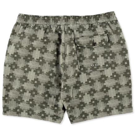 Print Canvas Beach Shorts