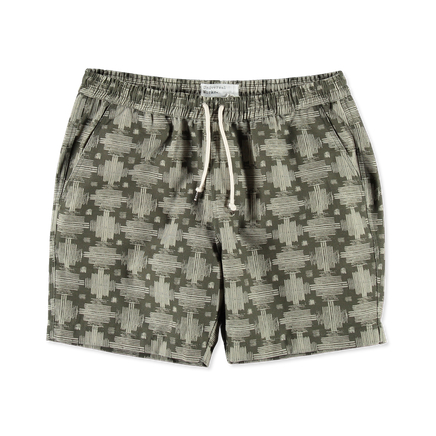 Print Canvas Beach Shorts