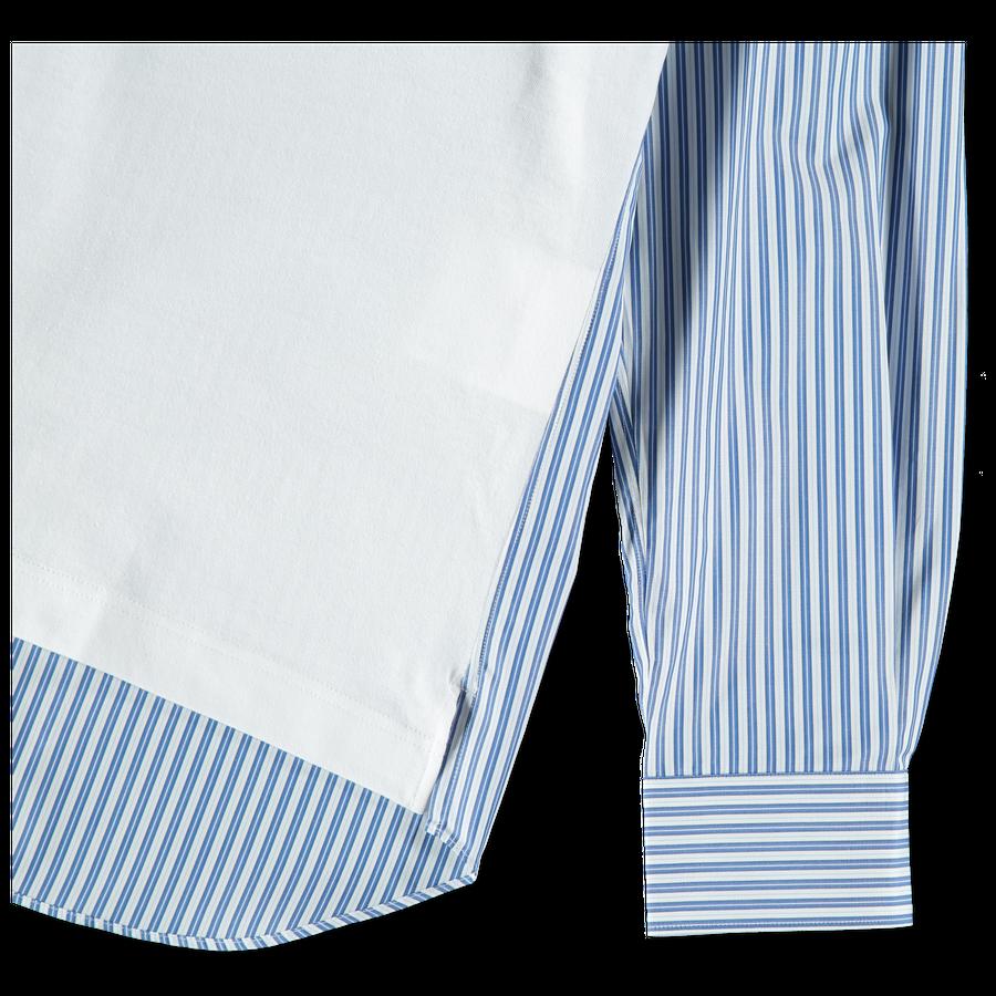 Stripe Shirt Sleeve T-Shirt