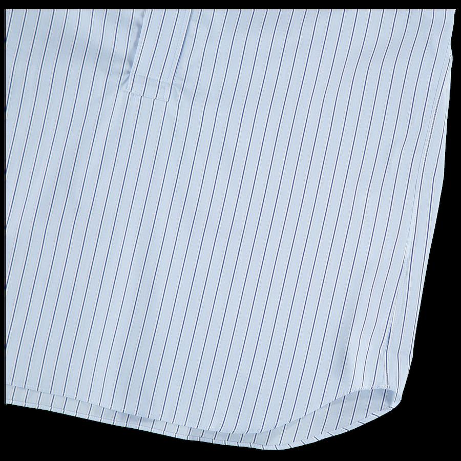 Stripe Poplin Nocollar Popover