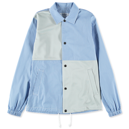Stripe Poplin/Poly Jacket