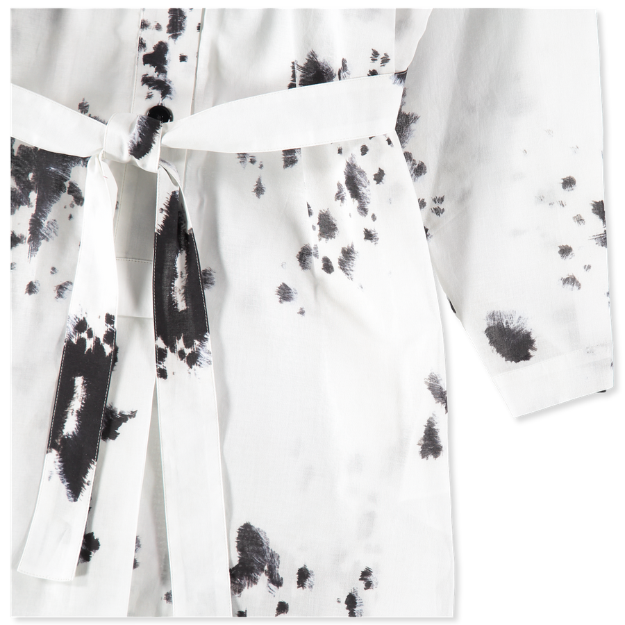Patterned Shirt Dress