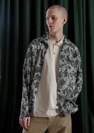 Tropical Marble Print L/S