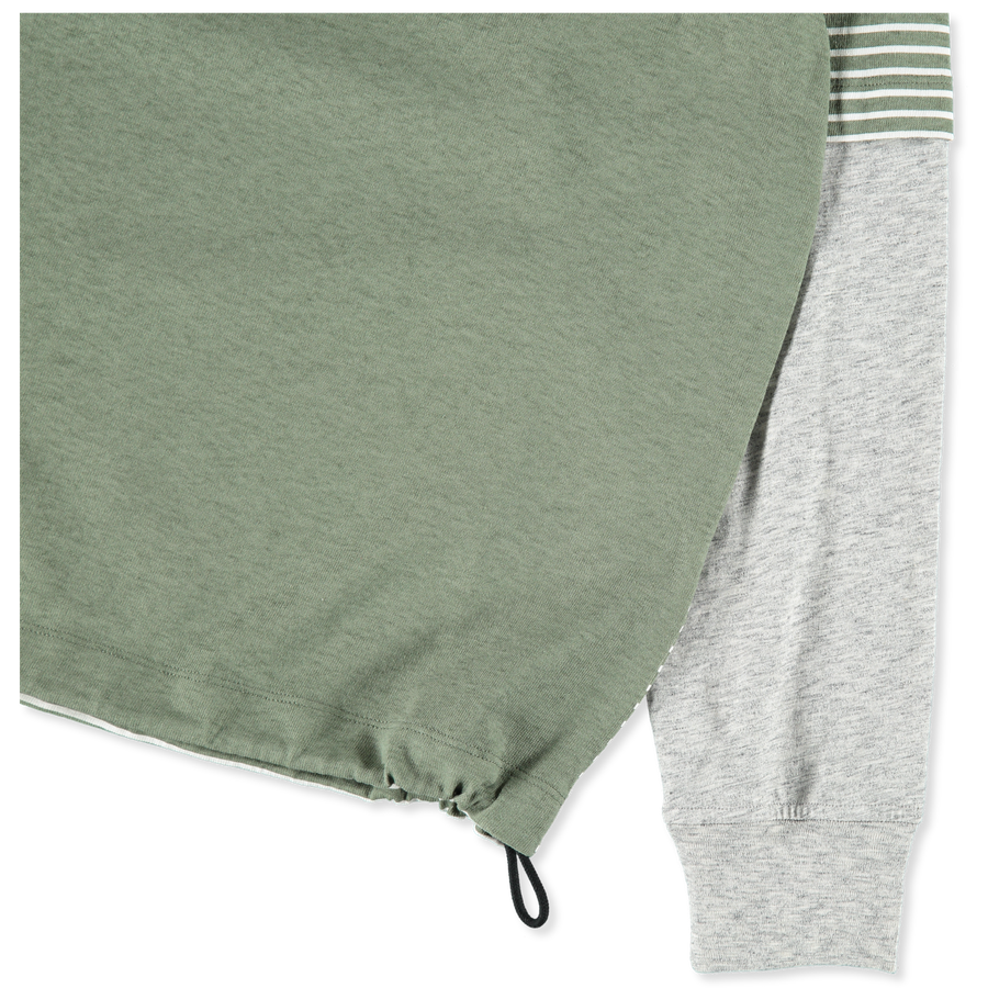 7015644X6 V0055 Marina Split Stripe Sweatshirt