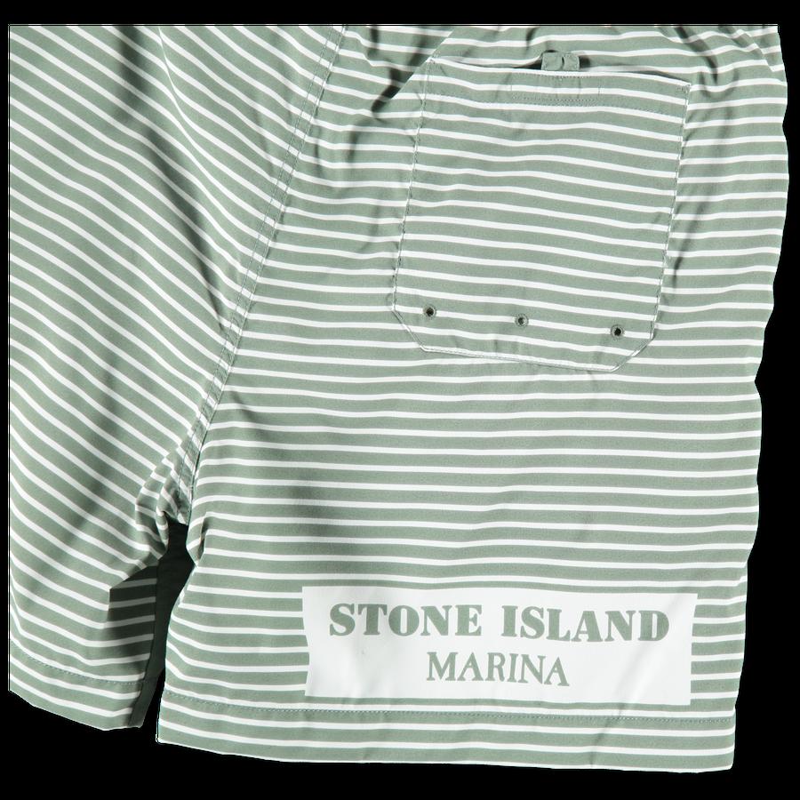 7015B01X8 V0055 Marina Stripe Swim Shorts