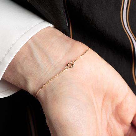 Tube Bead Bracelet Blk Diamond