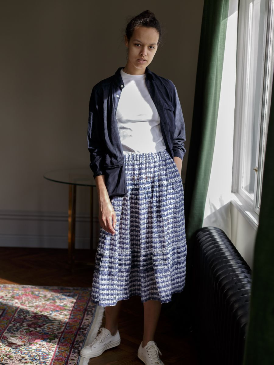 Patterned Silk Skirt