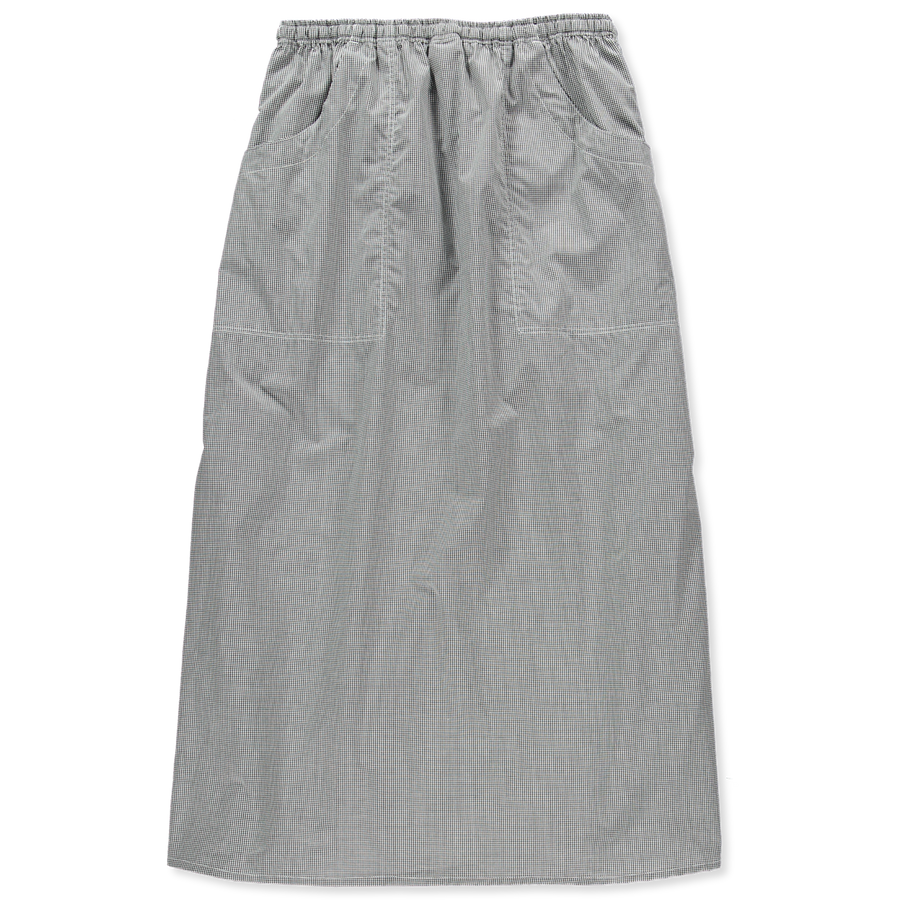 Check Skirt Drawstring Waist