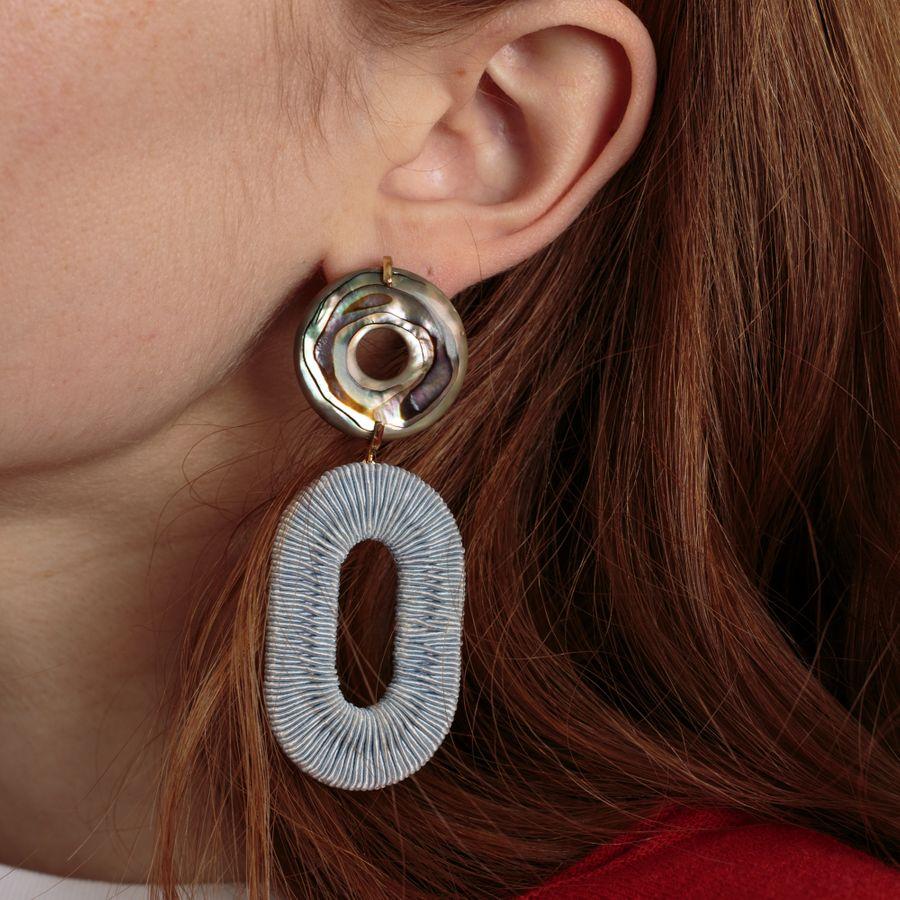Adriatic Earrings Woven Hoops