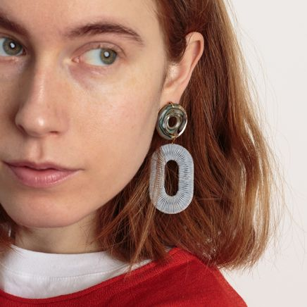 Adriatic Earrings Woven Hoops