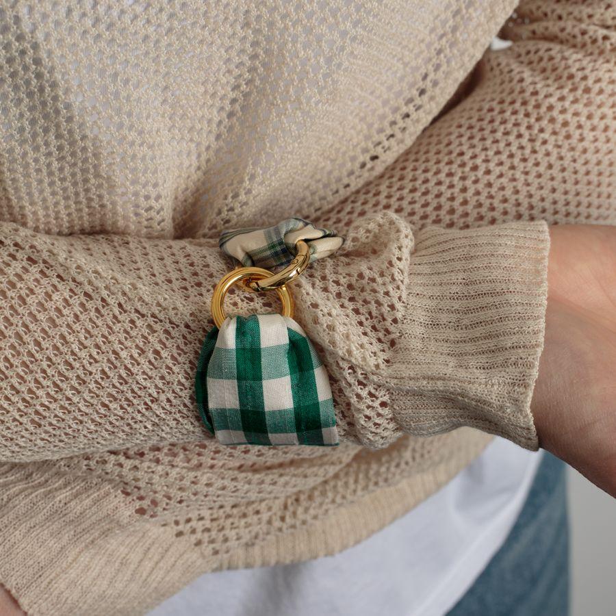 Jane Bracelet Green Tartan