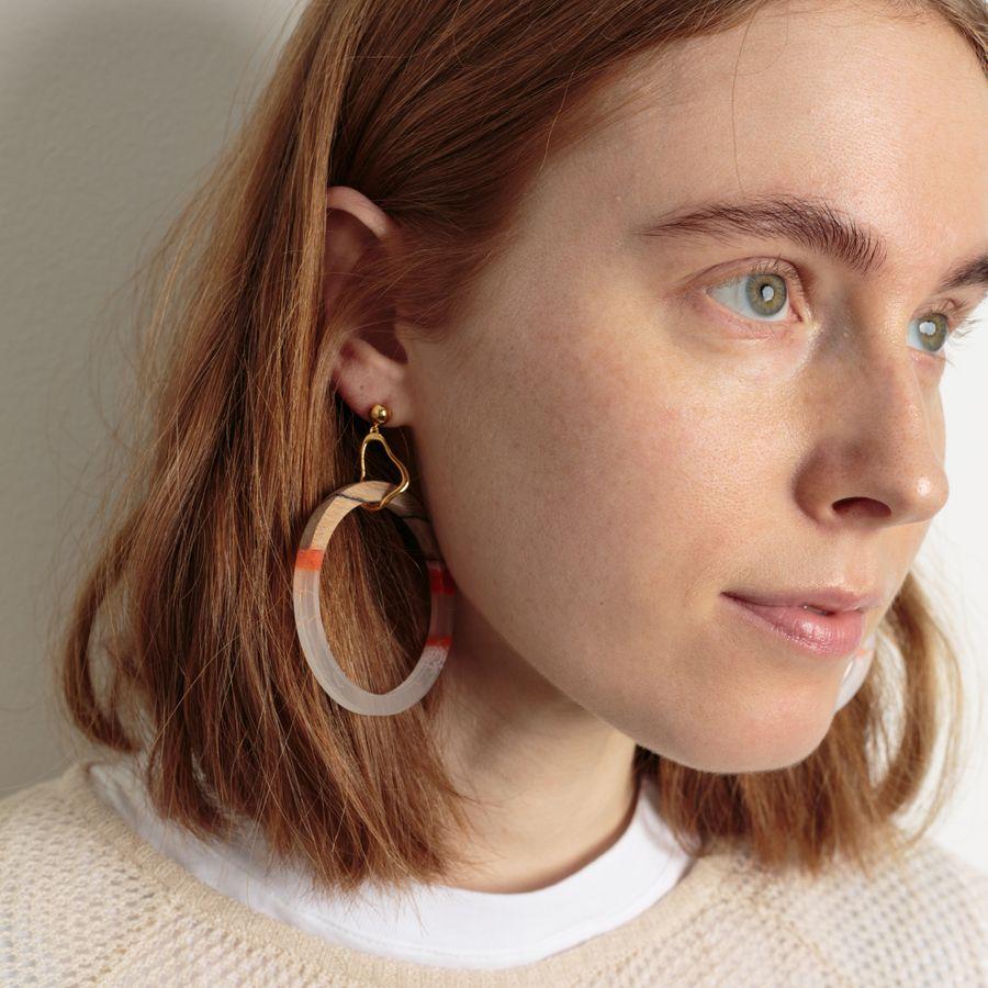 Drop Circle Earrings Rosalios