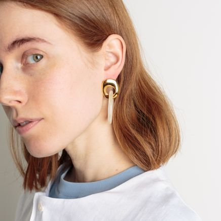 Finn Earrings Golden Sparkle